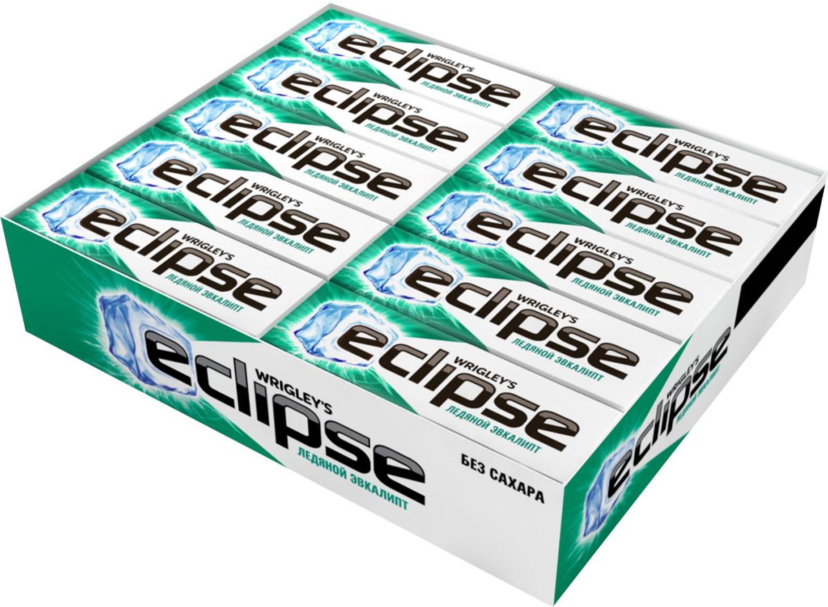 Eclipse Ледяной эвкалипт жевательная резинка без сахара, 30 пачек по 13,6 г orbit xxl white сочное яблоко жевательная резинка без сахара 20 пачек по 20 4 г