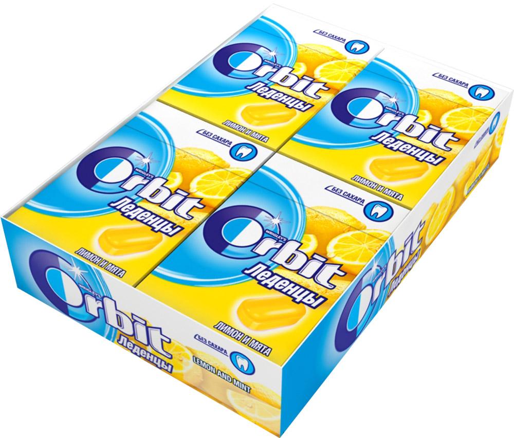 Orbit Лимон и мята леденцы, 8 пачек по 35 г halls мед лимон леденцы 12 пачек по 25 г