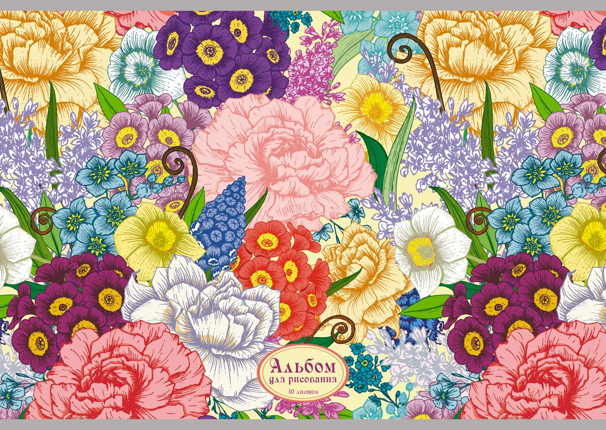 Канц-Эксмо Альбом для рисования Цветочный сад 40 листовАЛ401473Альбом для рисования 40 листов на скрепке. Обложка из мелованного картона с выборочным лаком. Бумага офсет 110г/м2.