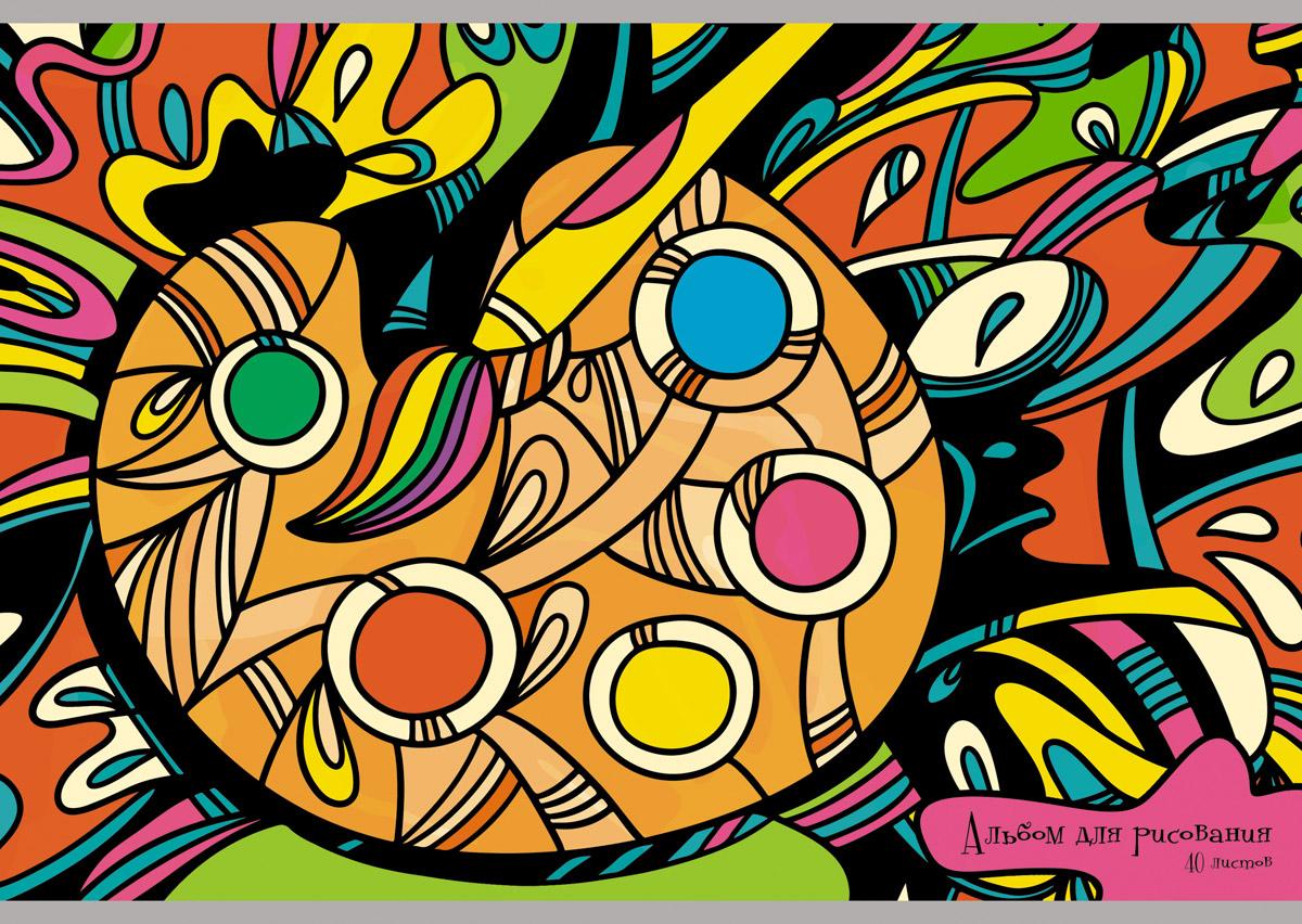 Канц-Эксмо Альбом для рисования Палитра красок 40 листов the art of kentaro nishino зайчики лицензия альбомы для рисования гребень 40 листов