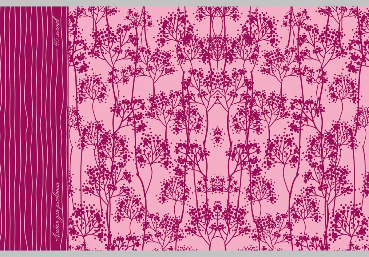 Канц-Эксмо Альбом для рисования Цветочные силуэты 40 листов the art of kentaro nishino зайчики лицензия альбомы для рисования гребень 40 листов