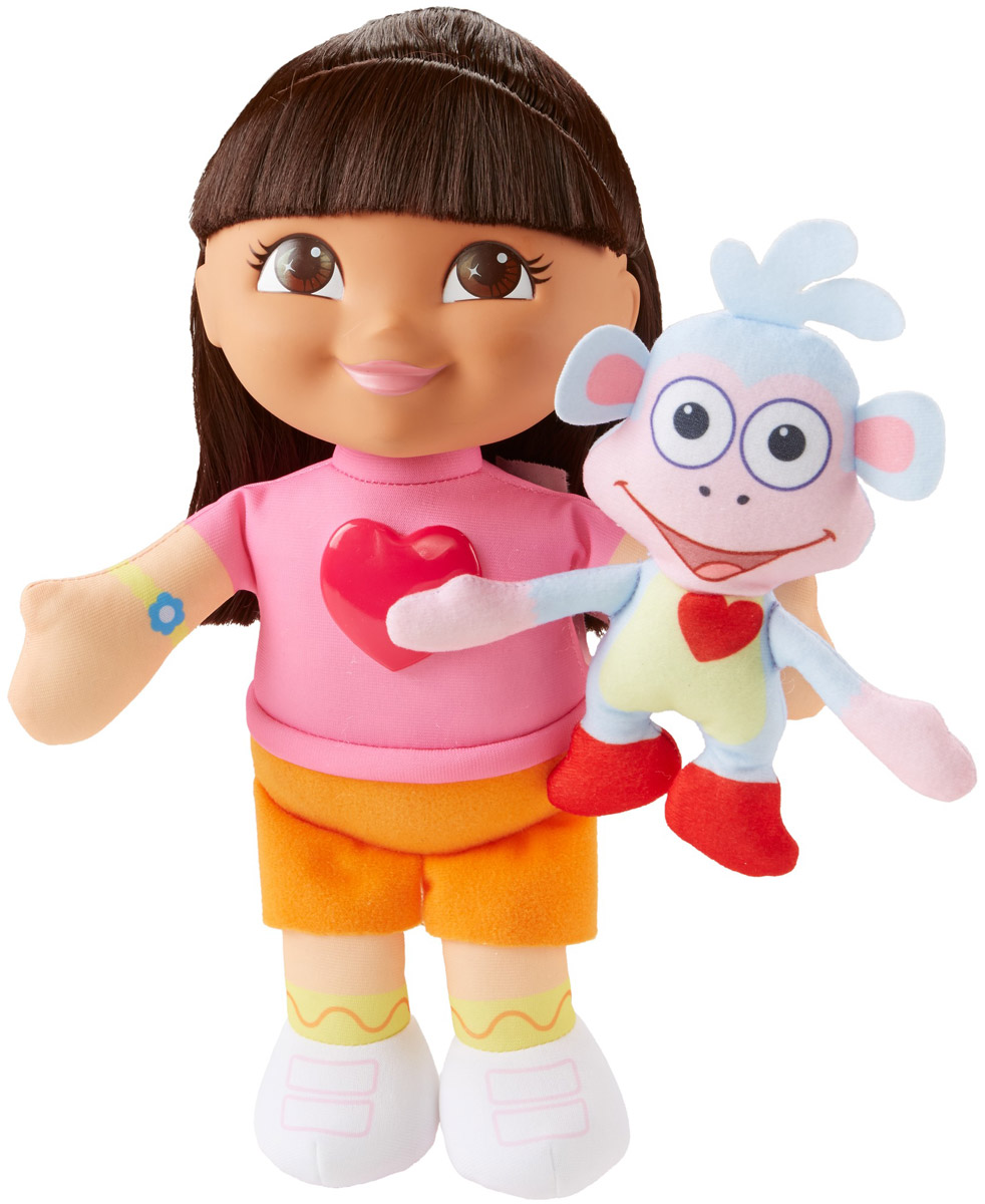 Dora the Explorer Кукла мягкая озвученная Даша с Башмачком dora the explorer little girls ballet dance pajama set