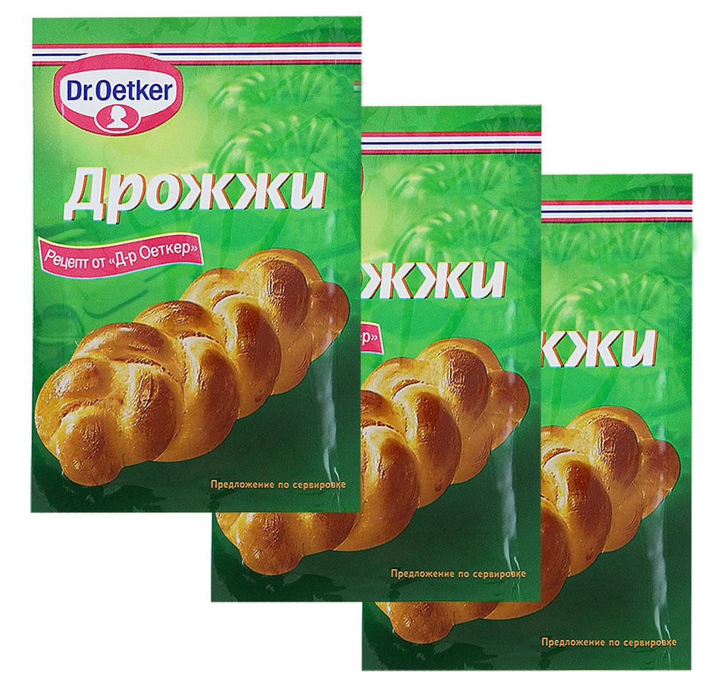 Dr.Oetker дрожжи хлебопекарные сухие быстродействующие, 3 пакетика по 7 г