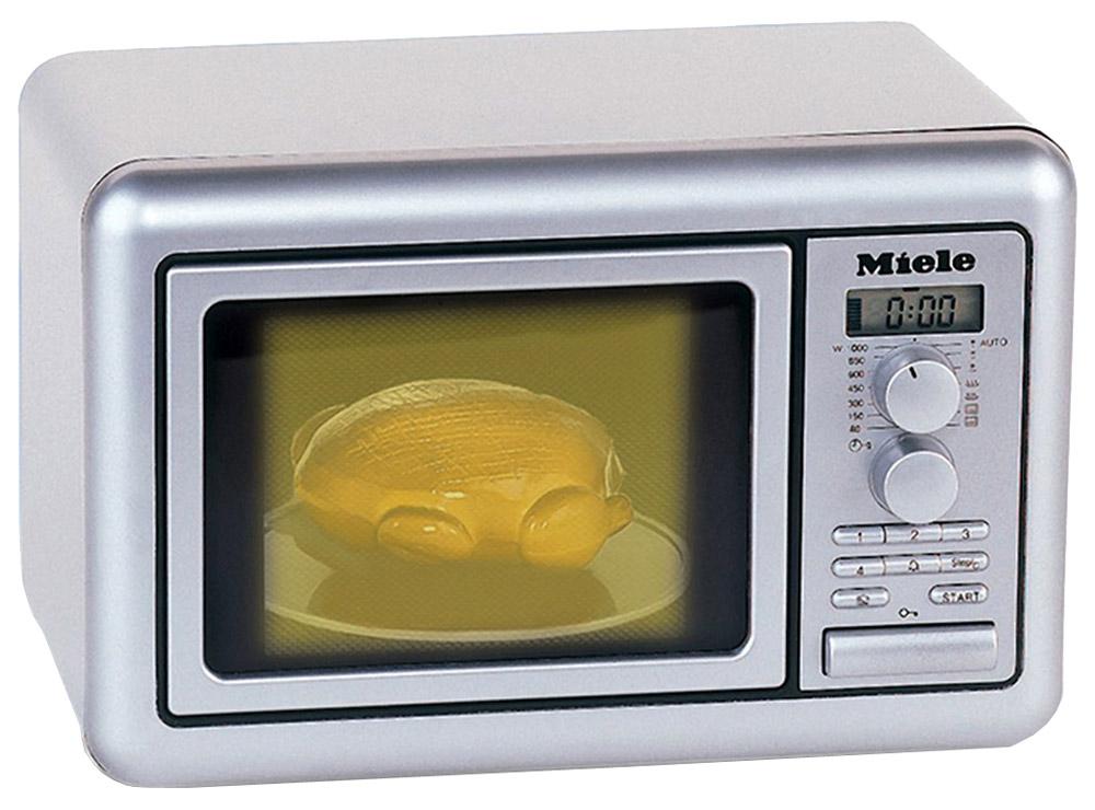 Klein Игрушечная микроволновая печь Miele цвет серебристый микроволновая печь klein miele со звуком 9492