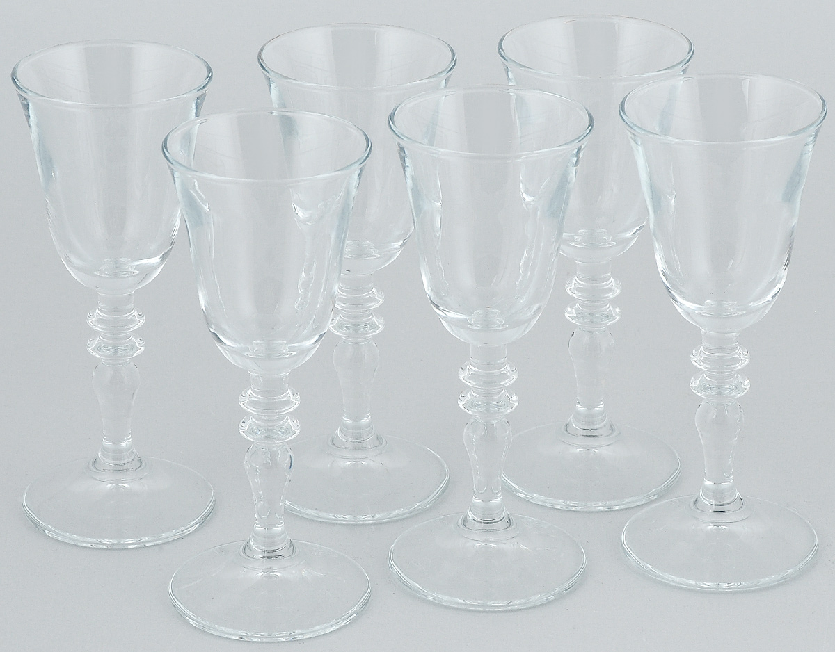 Набор рюмок Pasabahce Vintage, 50 мл, 6 шт440182BНабор Pasabahce Vintage состоит из 6 рюмок, изготовленных из прочного натрий-кальций-силикатного стекла. Изделия, предназначенные для подачи ликера и других спиртных напитков, несомненно придутся вам по душе. Рюмки сочетают в себе элегантный дизайн и функциональность. Набор рюмок Pasabahce Vintage идеально подойдет для сервировки стола и станет отличным подарком к любому празднику.Высота рюмки: 13 см.Диаметр рюмки: 5 см.