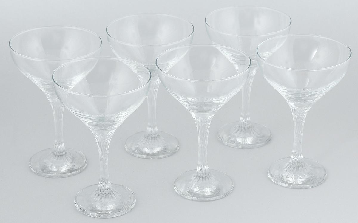 """Набор Pasabahce """"Twist"""", состоящий из шести бокалов на ножке, несомненно, придется вам по душе. Бокалы предназначены для подачи коктейлей. Они изготовлены из прочного высококачественного прозрачного стекла. Бокалы сочетают в себе элегантный дизайн и функциональность. Благодаря такому набору пить напитки будет еще вкуснее.Набор бокалов Pasabahce """"Twist"""" идеально подойдет для сервировки стола и станет отличным подарком к любому празднику."""