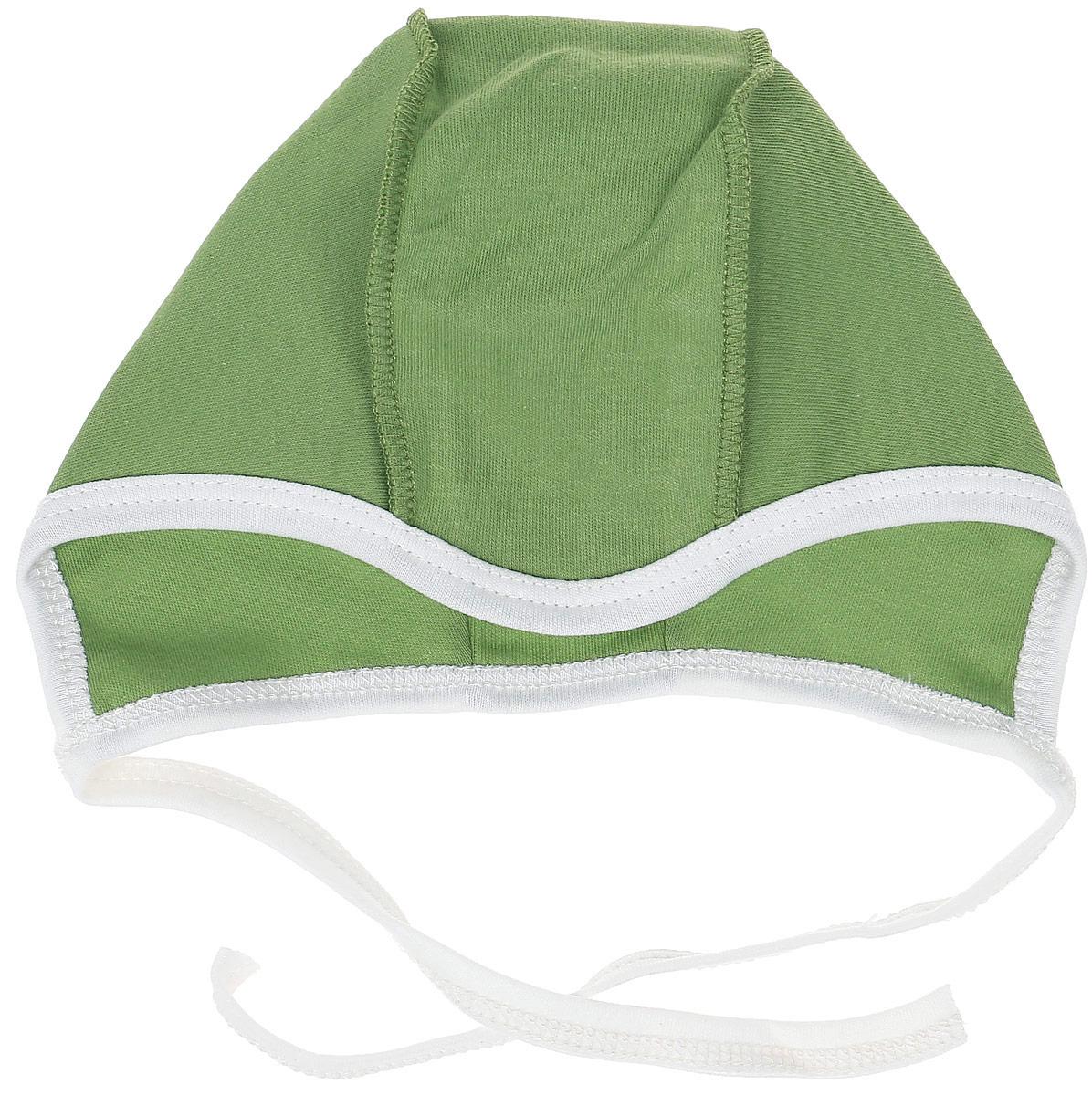 Чепчик для мальчика КотМарКот, цвет: зеленый. 8265. Размер 40, 1-3 месяца чепчик для девочки котмаркот цвет желтый 8262 размер 48 6 12 месяцев