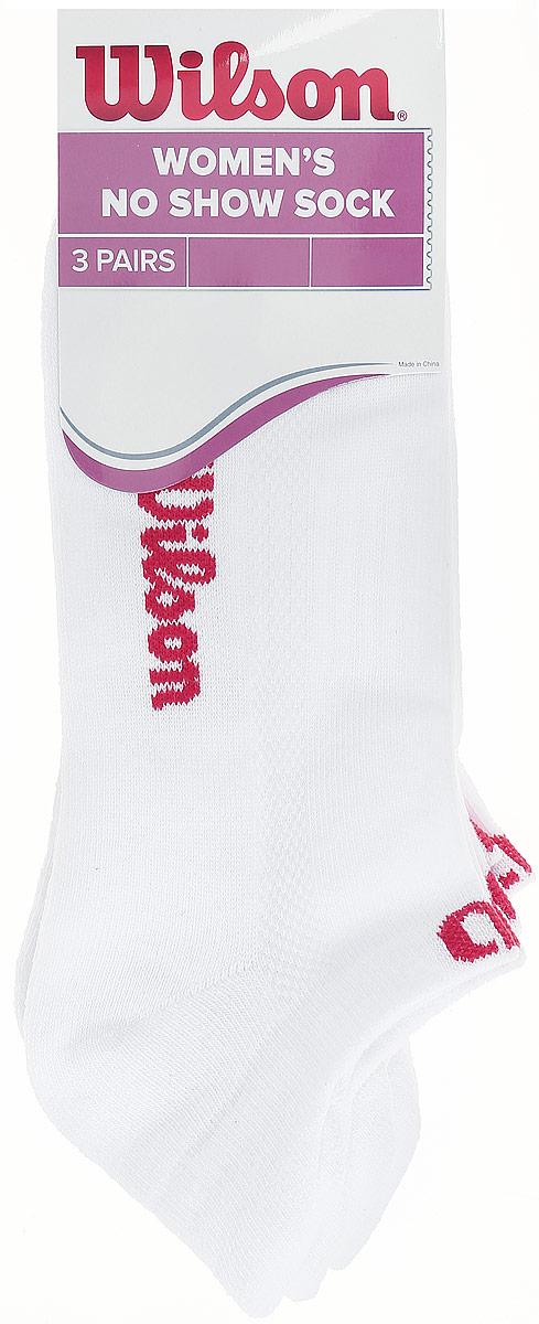 Носки женские Wilson No Show Sock, цвет: белый, 3 пары. WRA523700. Размер универсальный