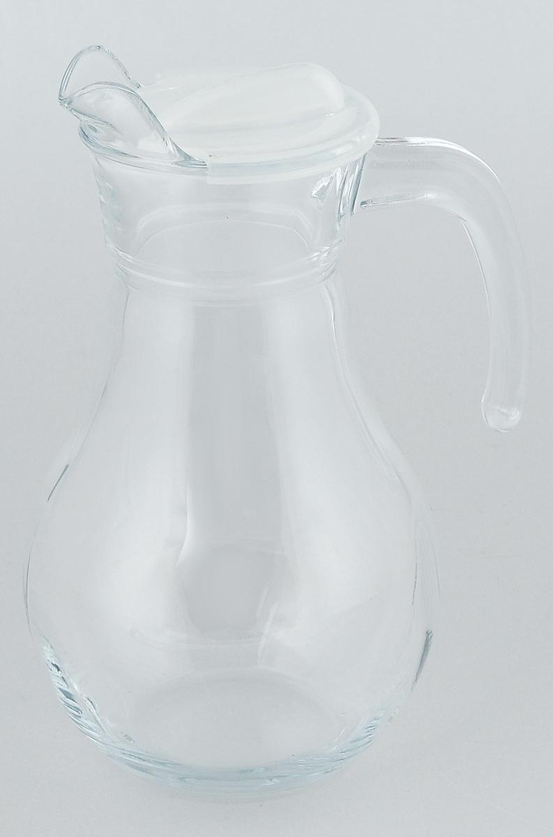 Кувшин Pasabahce Bistro, с крышкой, 1 л43944BКувшин Pasabahce Bistro, выполненный из прочного стекла, элегантно украсит ваш стол. Он прекрасно подойдет для подачи воды, сока, компота и других напитков. Изделие оснащено ручкой, пластиковой крышкой и специальным носиком для удобного выливания жидкости. Совершенные формы и изящный дизайн, несомненно, придутся по душе любителям классического стиля. Кувшин Pasabahce Bistro дополнит интерьер вашей кухни и станет замечательным подарком к любому празднику.Высота кувшина: 22 см.