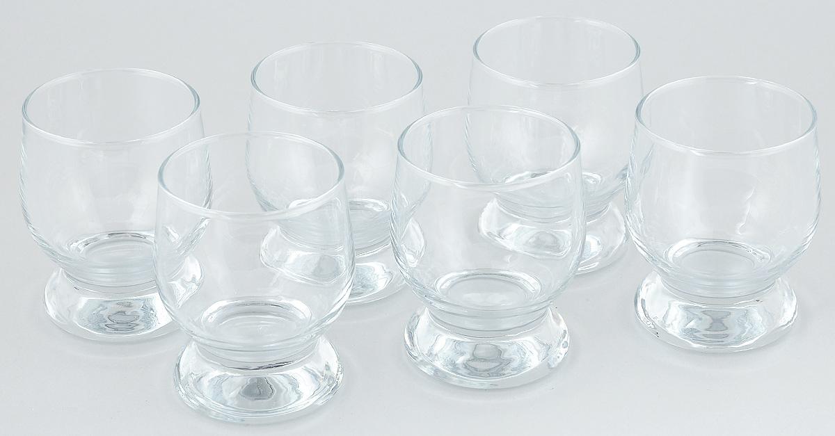 """Набор Pasabahce """"Aquatic"""", выполненный из закаленного натрий-кальций-силикатного стекла, состоит из шести стопок. Изделия прекрасно подойдут для подачи крепких алкогольных напитков. Набор стопок Pasabahce """"Aquatic"""" украсит ваш стол и станет отличным подарком к любому празднику. Можно мыть в посудомоечной машине. Диаметр стопки (по верхнему краю): 4,5 см. Высота стопки: 7 см."""