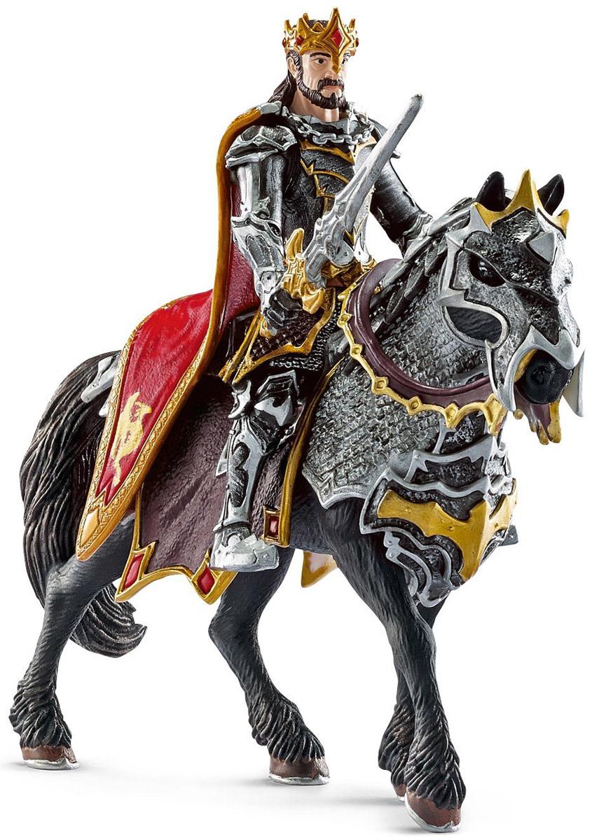 Schleich Фигурка Рыцарь Драконов Король на лошади наездник фигурка наездницы с лошадью schleich