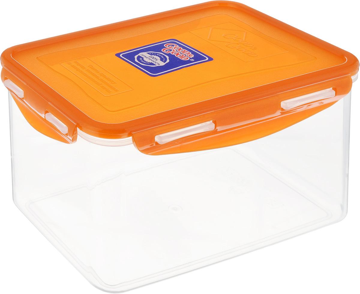 Контейнер пищевой Good&Good, цвет: прозрачный, оранжевый, 2,2 л3-3/LIDCOL_прозрачный, оранжевыйПрямоугольный контейнер Good&Good изготовлен из высококачественного полипропилена и предназначен для хранения любых пищевых продуктов. Благодаря особым технологиям изготовления, лотки в течение времени службы не меняют цвет и не пропитываются запахами. Крышка с силиконовой вставкой герметично защелкивается специальным механизмом. Контейнер Good&Good удобен для ежедневного использования в быту.Можно мыть в посудомоечной машине и использовать в микроволновой печи.Размер контейнера (с учетом крышки): 20 х 13,5 х 13 см.