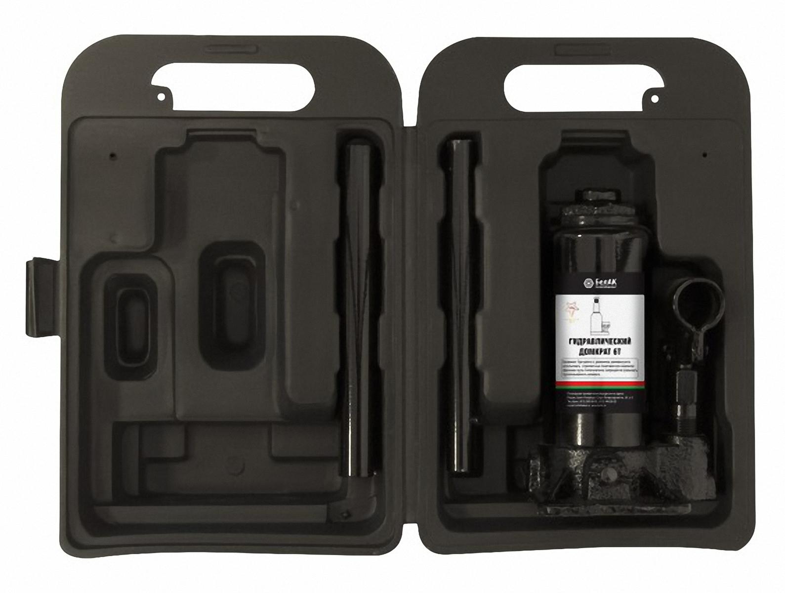 Домкрат бутылочный БелАвтоКомплект, в кейсе, 6 т домкрат белак бак 10044 8т