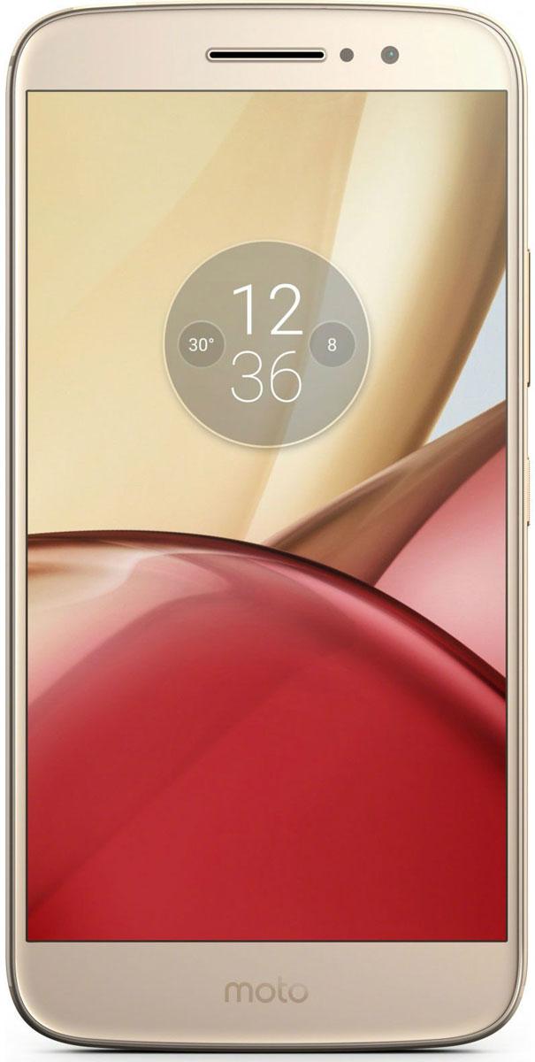 Motorola Moto M, Gold (XT1663)PA5D0072RUMotorola Moto M (XT1663) - это превосходное сочетание стильного дизайна и высокой производительности.5,5-дюймовый Full HD дисплей смартфона Moto M заключен в цельнометаллический корпус. Яркий и необычный дизайн делает Moto M одним из самых привлекательных смартфонов на рынке.Благодаря высокопроизводительному процессору и оперативной памяти емкостью 3 ГБ Moto M запускает приложения практически мгновенно. Этот телефон справится с любой задачей, даже когда открыто несколько приложений одновременно.В комплекта Moto M входит быстрое зарядное устройство мощностью 10 Вт. А аккумулятор 3050 мАч обеспечит непрерывную работу смартфона с раннего утра до позднего вечера.Храните любимую музыку, фильмы и фотографии прямо на телефоне. В вашем распоряжении встроенный накопитель емкостью 32 ГБ. К тому же вы всегда можете увеличить объем памяти с помощью карты microSD емкостью до 128 ГБ.Вы сможете быстро вернуться к любимым делам, разблокировав свой телефон с помощью отпечатка пальца. Это пароль, который невозможно подделать или украсть. Он действительно надежен.Телефон оснащен селфи-камерой 8 Мп и задней камерой 16 Мп с двойной светодиодной вспышкой для максимально естественного цветового баланса (CCT). Благодаря им каждое фото будет выглядеть превосходно.При покупке Moto M вы получаете бесплатный доступ к хранению оригинальных снимков в Google Фото в течение двух лет. Это отличный сервис, который поможет упорядочить твои фотографии и видео. Он не только обеспечивает автоматическое резервное копирование, но и группирует файлы, чтобы вы могли быстро найти все, что нужно.Динамик, расположенный на задней панели Moto M, поддерживает запатентованную технологию Dolby Atmos, которая обеспечивает распространение звука в трехмерном пространстве, а не только по звуковым каналам. Благодаря высокой четкости, насыщенности и глубине звучания музыка и фильмы словно оживают.Телефон сертифицирован EAC и имеет русифицированный интерфейс меню и Руководство польз