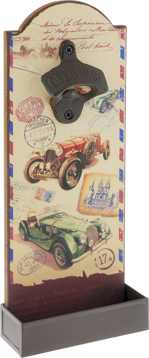 Ключ для открывания бутылок Magic Home  Ретро авто , настенный, 4,5 х 11,5 х 30 см - Украшения