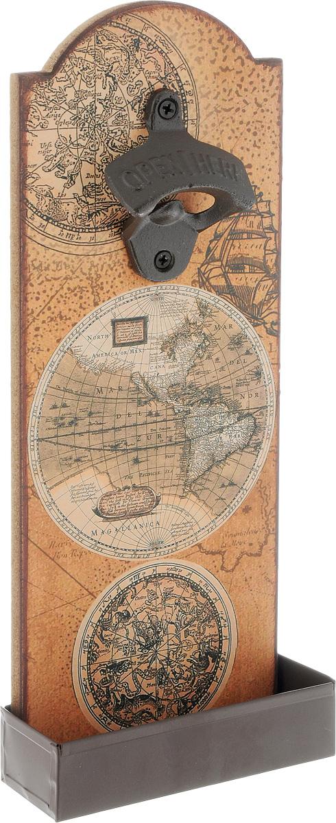 Ключ для открывания бутылок Magic Home  Карта , настенный, 4,5 х 11,5 х 30 см - Украшения