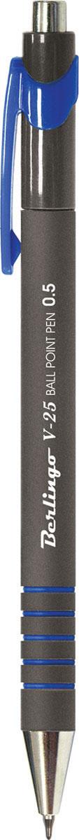 Berlingo Ручка шариковая V-25 цвет чернил синийCBm_50252Стильная и удобная шариковая ручка Berlingo V-25 с чернилами на масляной основе обеспечивает ровное и мягкое письмо.Корпус - непрозрачный пластик. Насечки грип-зоны не позволяют ручке скользить на пальцах. Детали корпуса тонированы в цвет чернил.Цвет чернил - синий.