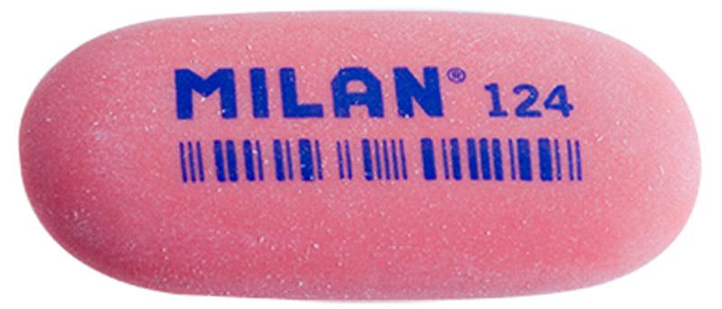 Milan Ластик 124 цвет красный milan набор ластиков 124 3шт