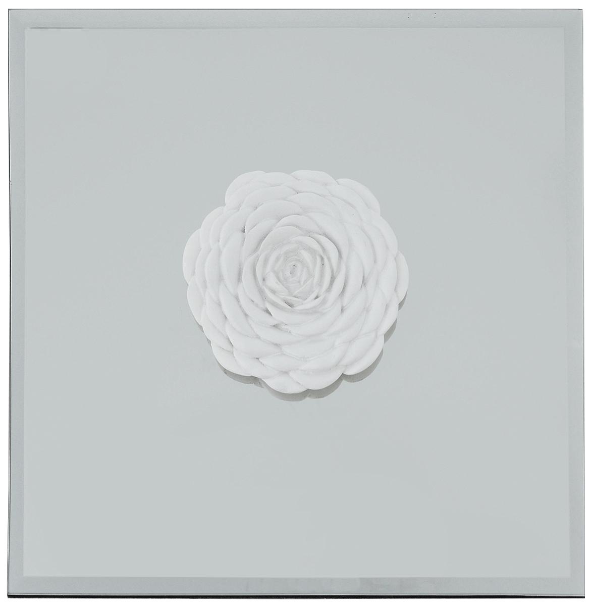 Украшение декоративное Феникс-Презент Роза, настенное, 24 x 24 x 3 см44063Настенное украшение Феникс-Презент Роза изготовлено из основы МДФ и зеркального стекла, декоративный элемент выполнен из полирезина в виде цветка розы. Для удобства размещения изделие оснащено металлической петелькой для подвешивания. Такое украшение не только подчеркнет ваш изысканный вкус, но и станет прекрасным подарком, который обязательно порадует получателя.