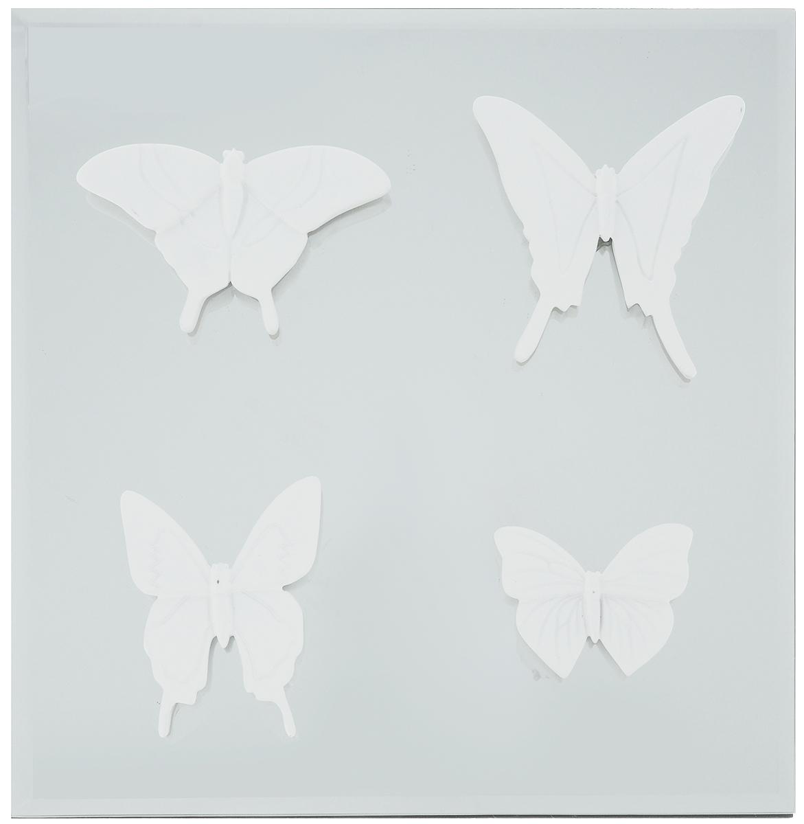 Украшение декоративное Феникс-Презент Бабочки, настенное, 30 x 30 x 3 см набор настольных игр феникс презент 29 14 5 3 2см в деревян коробке 35702