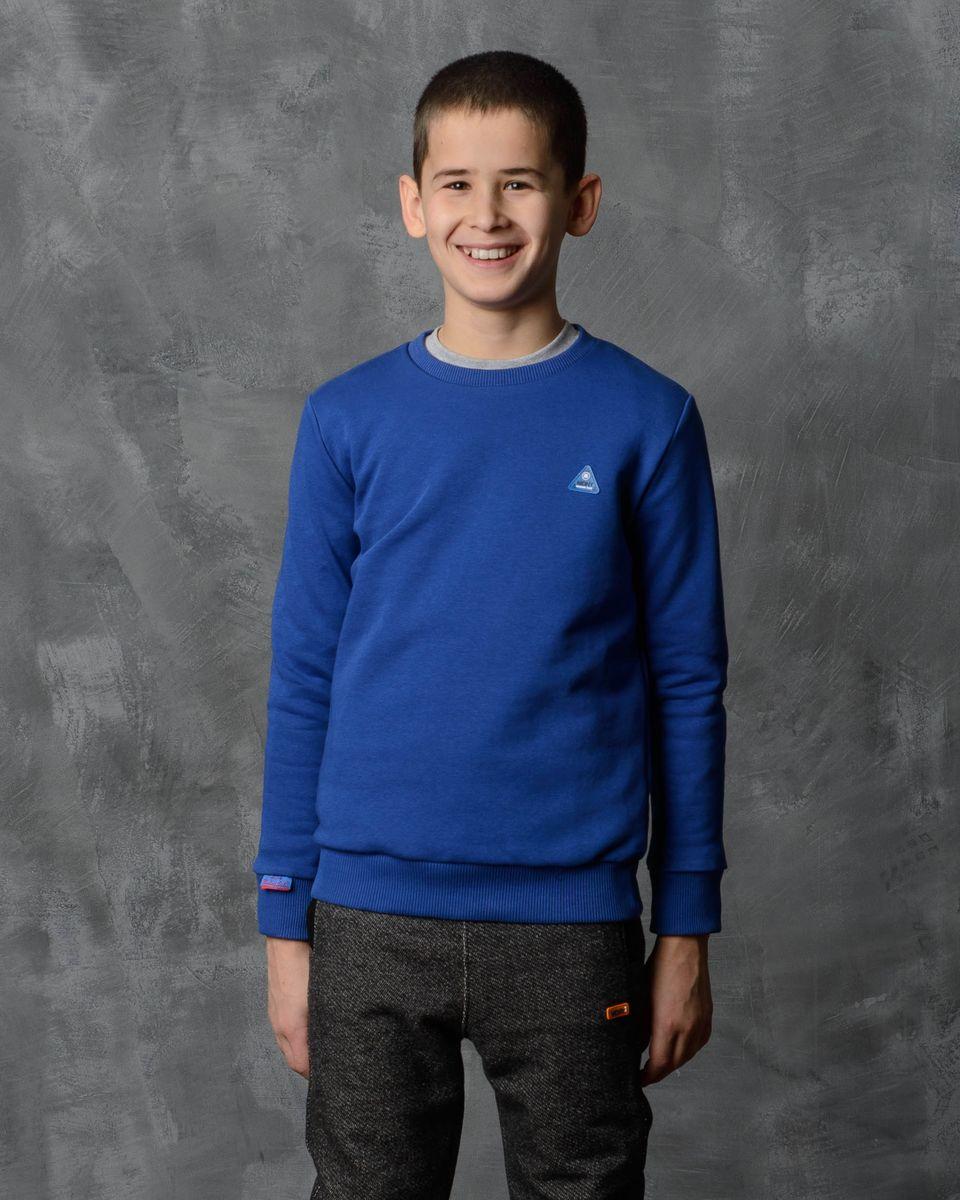 Толстовка для мальчика Modniy Juk, цвет: василек. 07B00030701. Размер 122/128 джемперы modniy juk джемпер