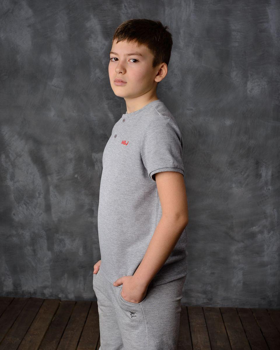 Футболка для мальчика Modniy Juk, цвет: серый меланж. 03В00030300. Размер 32 (122) джемперы modniy juk джемпер