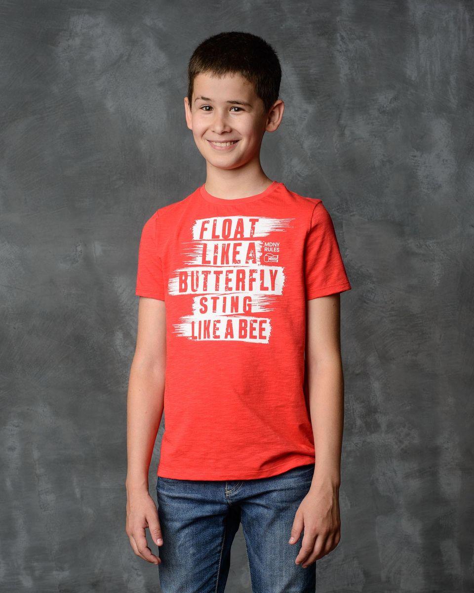 Футболка для мальчика Modniy Juk, цвет: красный. 01B00120101_FLOAT_AND_STING. Размер 26 (104) джемперы modniy juk джемпер