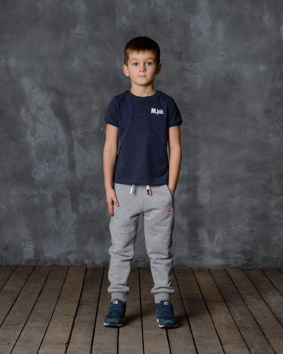 Брюки для мальчика Modniy Juk, цвет: серый меланж. 15В00160700. Размер 30 (116) джемперы modniy juk джемпер