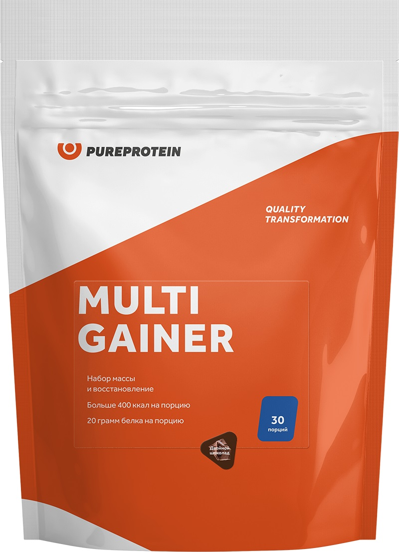 Гейнер Pure Protein Multi Gainer, двойной шоколад, 3000 г гейнер geneticlab nutrition mass gainer шоколад 1000 г