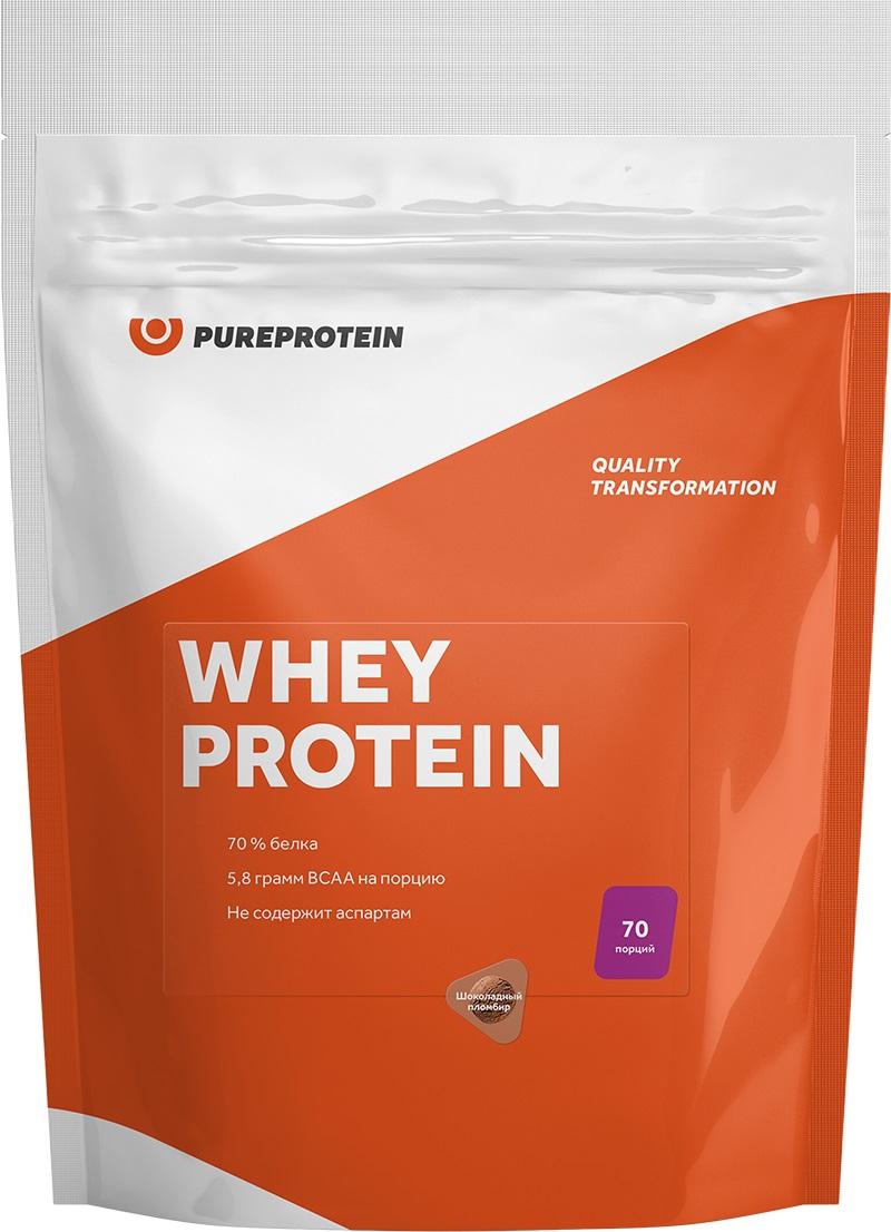 Протеин Pure Protein Whey Protein, шоколадный пломбир, 2100 г протеин olimp whey protein complex 100