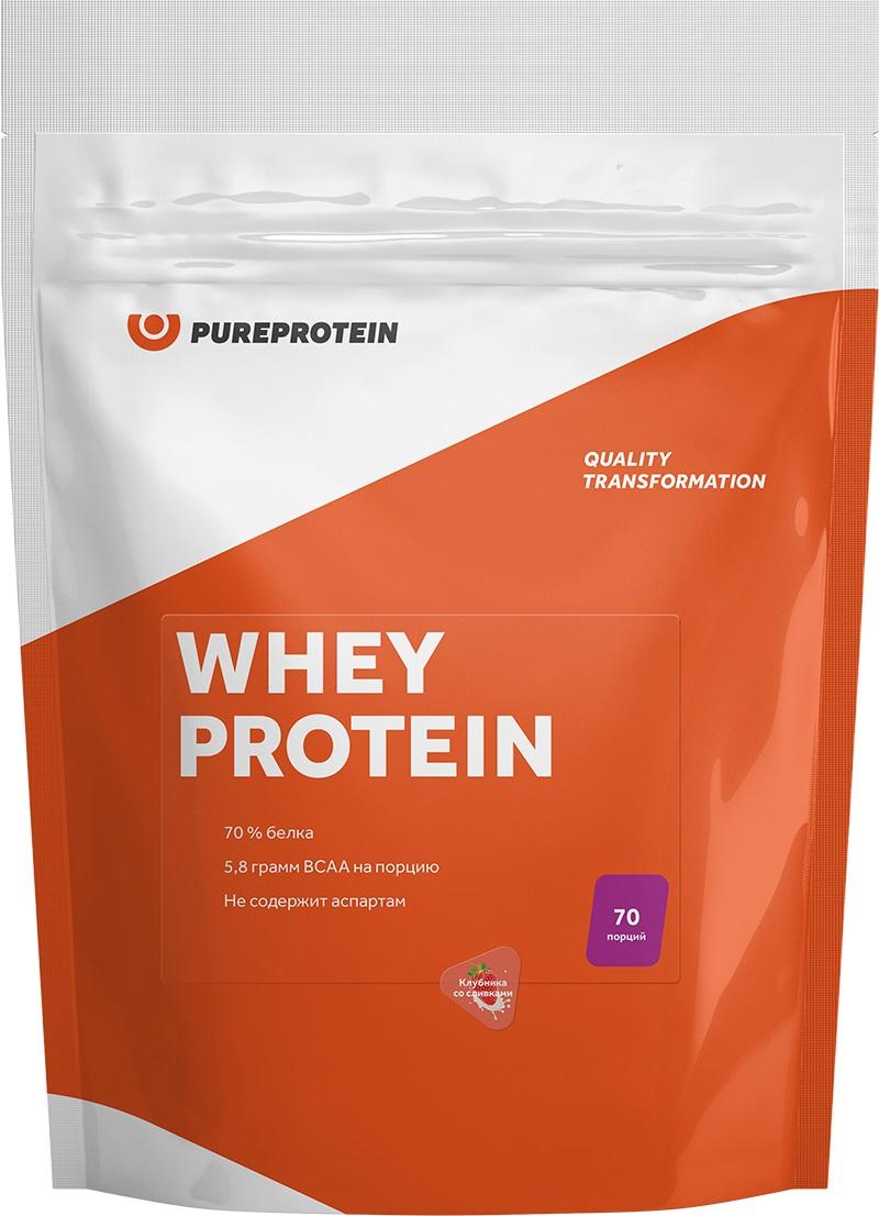 Протеин Pure Protein Whey Protein, клубника со сливками, 2100 г