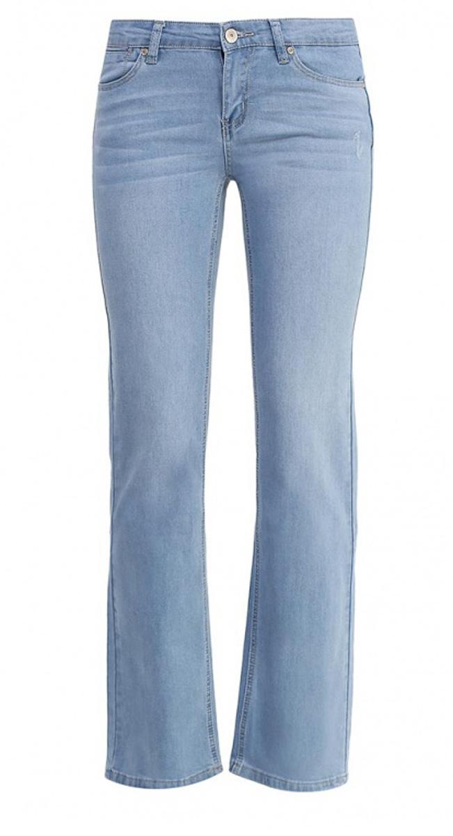 Джинсы женские Sela Denim, цвет: голубой джинс. PJ-135/601-7161. Размер 27-32 (42/44-32)PJ-135/601-7161Стильные джинсы Sela, изготовленные из качественного материала, станут отличным дополнением вашего гардероба. Джинсы прямого кроя и стандартной посадки на талии застегиваются на застежку-молнию и пуговицу. На поясе имеются шлевки для ремня. Модель представляет собой классическую пятикарманку: два втачных и маленький прорезной карманы спереди и два накладных кармана сзади.
