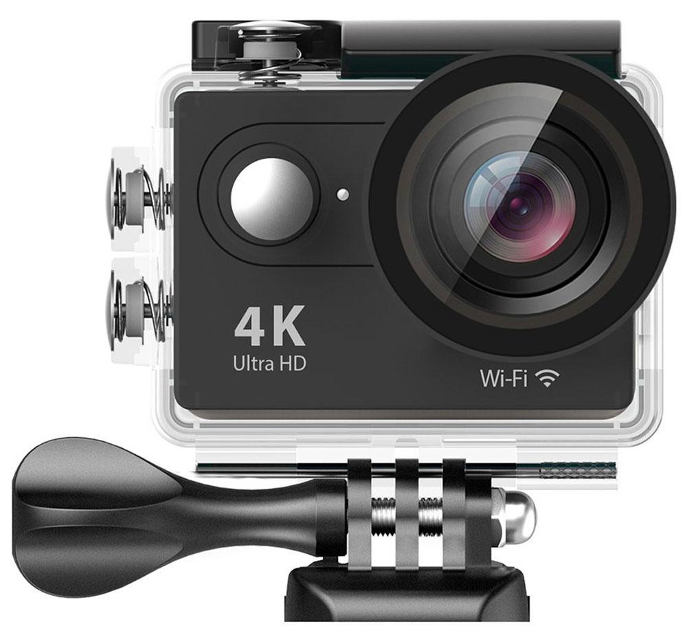 Eken H9 Ultra HD, Black экшн-камераH9_blackЭкшн-камера Eken H9 Ultra HD позволяет записывать видео с разрешением 4К и очень плавным изображением до 30 кадров в секунду. Камера оснащена 2 TFT LCD экраном. Эта модель сделана для любителей спорта на улице, подводного плавания, скейтбординга, скай-дайвинга, скалолазания, бега или охоты. Снимайте с руки, на велосипеде, в машине и где угодно. По сравнению с предыдущими версиями, в Eken H9 Ultra HD вы найдете уменьшенные размеры корпуса, увеличенный до 2-х дюймов экран, невероятную оптику и фантастическое разрешение изображения при съемке 30 кадров в секунду!Управляйте вашей H9 на своем смартфоне или планшете. Приложение Ez iCam App позволяет работать с браузером и наблюдать все то, что видит ваша камера.