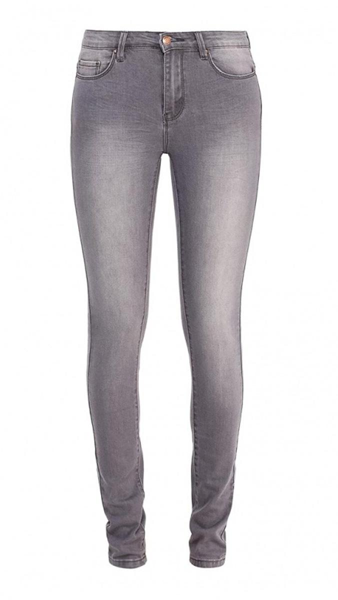 Джинсы женские Sela Denim, цвет: серый джинс. PJ-135/595-7161. Размер 25-32 (40-32)PJ-135/595-7161Стильные джинсы Sela, изготовленные из качественного хлопкового материала с потертостями, станут отличным дополнением вашего гардероба. Джинсы прилегающего кроя и стандартной посадки на талии застегиваются на застежку-молнию и пуговицу. На поясе имеются шлевки для ремня. Модель представляет собой классическую пятикарманку: два втачных и накладной карманы спереди и два накладных кармана сзади.