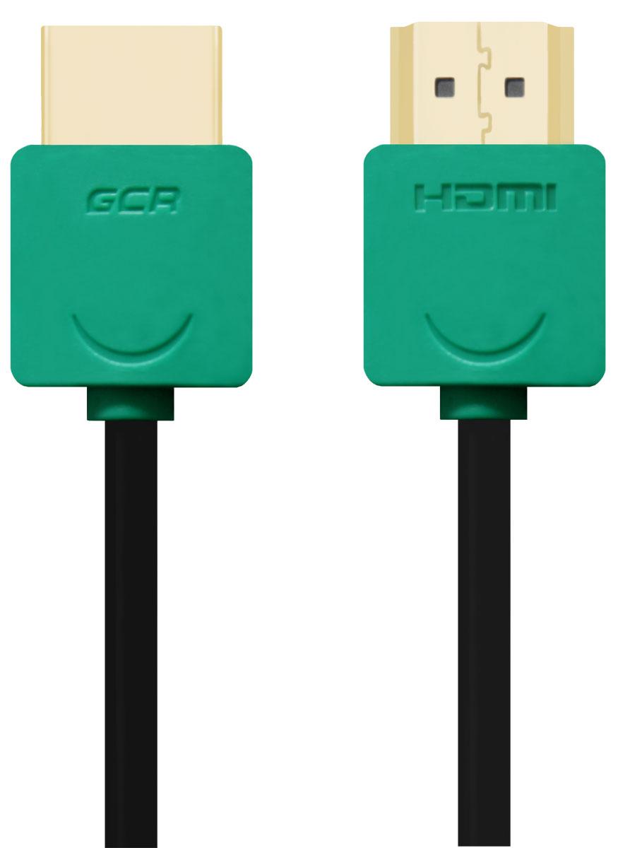 Greenconnect GCR-HM520 кабель HDMI (1 м)GCR-HM520-1.0mКабель HDMI v 1.4 Greenconnect GCR-HM520 - отличное решение для подключения компьютера, игровых консолей, DVD и Blu-ray плееров, аудио-ресиверов к телевизору или дополнительному монитору. Кабель HDMI поддерживает как стандартные, так и высокие разрешения самых современных моделей телевизоров.Greenconnect GCR-HM520 поддерживает 4K, Full HD и HD разрешения. Это даёт возможность наслаждаться более точной и естественной картинкой с высочайшим уровнем детализации и диапазоном цветов. Использование кабеля позволяет передавать изображение в столь популярном формате 3D, усиливая элемент присутствия и позволяя получать удовольствие от качественного объёмного изображения.Кабель оснащен двунаправленным каналом для передачи сетевых данных, который подходит для использования IP-приложениями. Канал Ethernet позволяет нескольким устройствам работать в сети Ethernet без необходимости подключения дополнительных проводов, а также напрямую обмениваться контентом. Наличие обратного канала аудио устраняет необходимость в отдельном проводе для передачи звука в ресивер с телевизора или другого устройства, которое является одновременно источником аудио и видео.Максимальная скорость передачи данных по HDMI кабелю Greenconnect GCR-HM520 до 10,2 Гбит/с. Высокая скорость обеспечивает передачу больших объёмов данных за кратчайшее время. Позволяет передавать данные в онлайн режиме без потери качества. Экранирование кабеля защищает сигнал при передаче от влияния внешних полей, способных создать помехи.