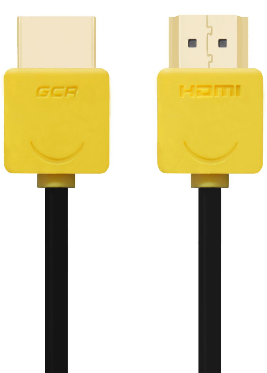 Greenconnect GCR-HM540 кабель HDMI (2 м)GCR-HM540-2.0mКабель HDMI v 1.4 Greenconnect GCR-HM540 - отличное решение для подключения компьютера, игровых консолей, DVD и Blu-ray плееров, аудио-ресиверов к телевизору или дополнительному монитору. Кабель HDMI поддерживает как стандартные, так и высокие разрешения самых современных моделей телевизоров.Greenconnect GCR-HM540 поддерживает 4K, Full HD и HD разрешения. Это даёт возможность наслаждаться более точной и естественной картинкой с высочайшим уровнем детализации и диапазоном цветов. Использование кабеля позволяет передавать изображение в столь популярном формате 3D, усиливая элемент присутствия и позволяя получать удовольствие от качественного объёмного изображения.Кабель оснащен двунаправленным каналом для передачи сетевых данных, который подходит для использования IP-приложениями. Канал Ethernet позволяет нескольким устройствам работать в сети Ethernet без необходимости подключения дополнительных проводов, а также напрямую обмениваться контентом. Наличие обратного канала аудио устраняет необходимость в отдельном проводе для передачи звука в ресивер с телевизора или другого устройства, которое является одновременно источником аудио и видео.Максимальная скорость передачи данных по HDMI кабелю Greenconnect GCR-HM540 до 10,2 Гбит/с. Высокая скорость обеспечивает передачу больших объёмов данных за кратчайшее время. Позволяет передавать данные в онлайн режиме без потери качества. Экранирование кабеля защищает сигнал при передаче от влияния внешних полей, способных создать помехи.