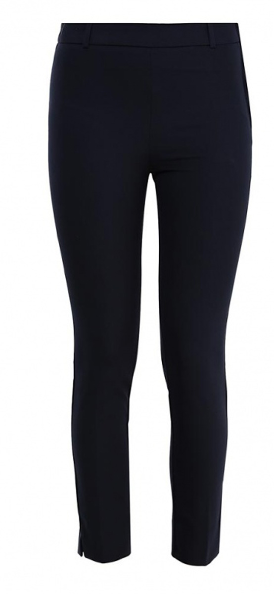 Брюки женские Sela, цвет: темно-синий. P-115/806-7131. Размер 42P-115/806-7131Стильные укороченные брюки Sela, изготовленные из качественного материала, станут отличным дополнением вашего гардероба. Брюки зауженного кроя и стандартной посадки на талии застегиваются сбоку на скрытую планкой молнию. На поясе имеются шлевки для ремня. Модель дополнена двумя прорезными карманами сзади.