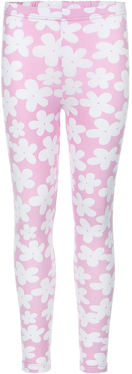 Леггинсы для девочки КотМарКот Ромашка, цвет: розовый, белый. 22742. Размер 98, 3 года