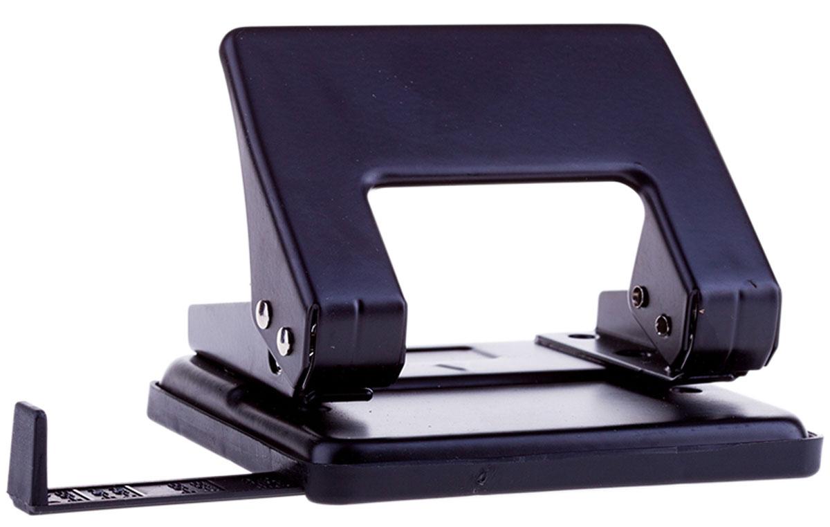 OfficeSpace Дырокол с линейкой на 20 листов цвет черный P204_1865BK дырокол deli vivid e0123 20 листов в ассортименте