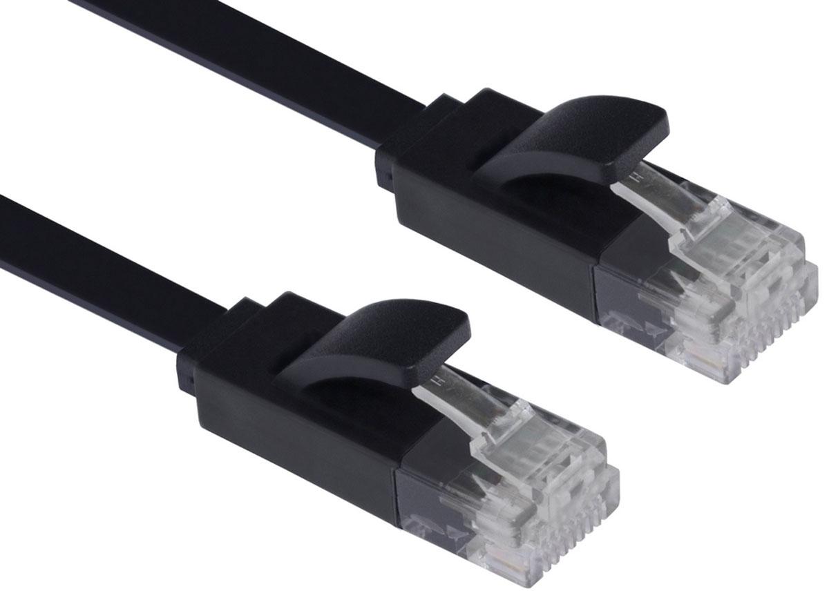Greenconnect GCR-LNC616 сетевой кабель (15 м)GCR-LNC616-15.0mКабель Greenconnect GCR-LNC616 является плоским, что делает его идеальным для скрытого монтажа, прокладки под ковром или плинтусом. Также, благодаря технологии UltraSlim от Greenconnect, кабель очень компактен, его легко и удобно использовать с ноутбуком и брать с собой.Внутренние провода коммутационного кабеля Greenconnect сделаны из качественной бескислородной меди высокой степени очистки, что обеспечивает высокую скорость соединения, стабильную передачу данных.Внешняя оболочка изготовлена из экологически чистого ПВХ, соответствующего европейскому стандарту безотходного производства RoHS.