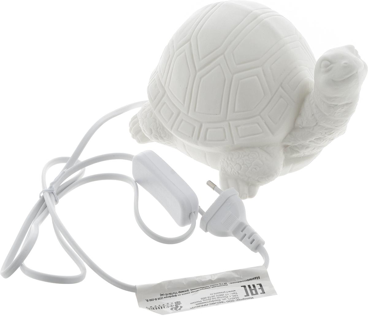 Лампа настольная Феникс-Презент Черепаха, 18 х 13 х 11,5 см лампа настольная феникс презент белка цвет белый 17 х 12 х 19 см