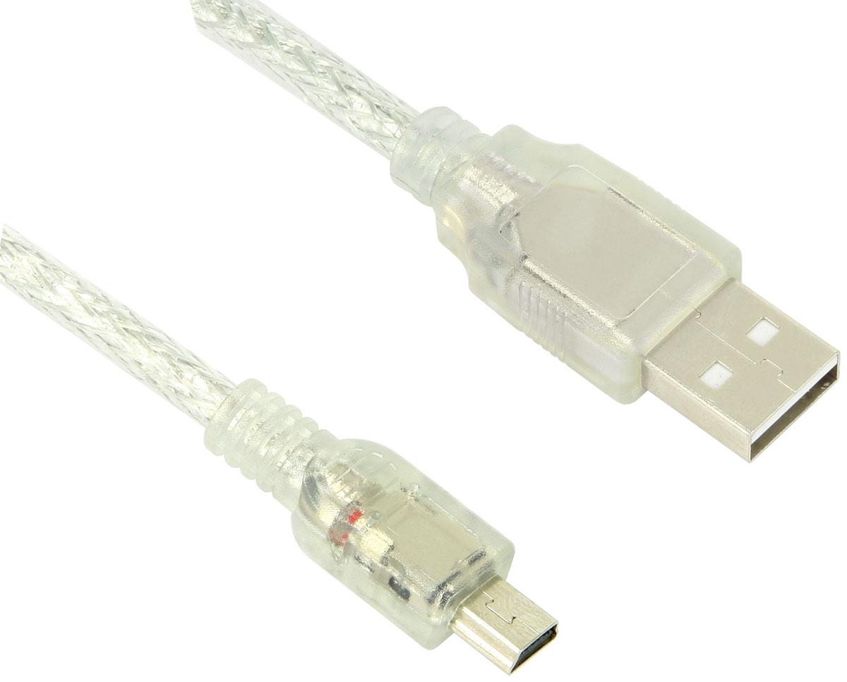 Greenconnect GCR-UM1M5P-BD2S кабель miniUSB-USB (0,5 м)GCR-UM1M5P-BD2S-0.5mКабель Greenconnect GCR-UM1M5P-BD2S позволит подключать фото и видео камеры, мобильные телефоны, смартфоны, планшеты и другие устройства с разъемом miniUSB к USB разъему компьютера. Подходит для повседневных задач, таких как синхронизация данных, зарядка устройства и передача файлов. Экранирование кабеля позволяет защитить сигнал при передаче от влияния внешних полей, способных создать помехи.