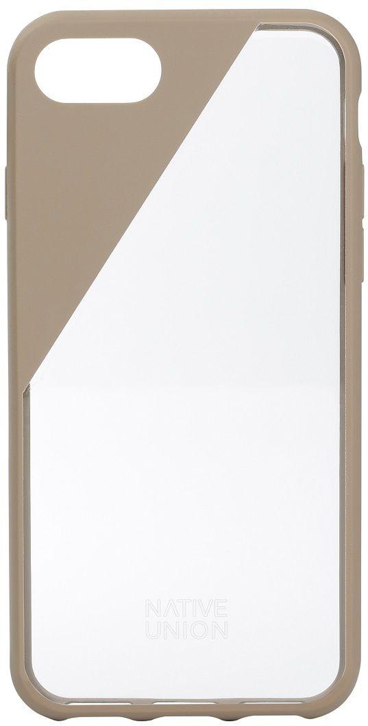 Native Union Clic Crystal чехол для iPhone 7/8, BeigeCLICCRL-TAU-7Чехол Native Union Clic Crystal идеально подстраивается под iPhone 7, практически не увеличивая его в размерах. Выполнен из ударопоглощающих полимеров, защищающих от падений. Выступающая рамка по бокам экрана обеспечит его целостность. Имеется свободный доступ ко всем разъемам и кнопкам устройства. Чехол Native Union Clic Crystal сохраняет оригинальный стиль iPhone. Основным элементом задней панели выступает прочный и прозрачный поликарбонат, оставляющий лидерство дизайна за металлическим корпусом iPhone. Тем не менее, стиль Native Union всё равно легко узнается благодаря отличительному, резкому скосу эластичного бампера.