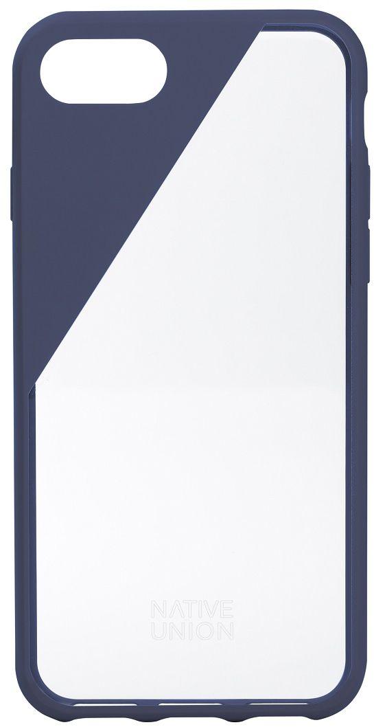 Native Union Clic Crystal чехол для iPhone 7/8, BlueCLICCRL-MAR-7Чехол Native Union Clic Crystal идеально подстраивается под iPhone 7, практически не увеличивая его в размерах. Выполнен из ударопоглощающих полимеров, защищающих от падений. Выступающая рамка по бокам экрана обеспечит его целостность. Имеется свободный доступ ко всем разъемам и кнопкам устройства. Чехол Native Union Clic Crystal сохраняет оригинальный стиль iPhone. Основным элементом задней панели выступает прочный и прозрачный поликарбонат, оставляющий лидерство дизайна за металлическим корпусом iPhone. Тем не менее, стиль Native Union всё равно легко узнается благодаря отличительному, резкому скосу эластичного бампера.