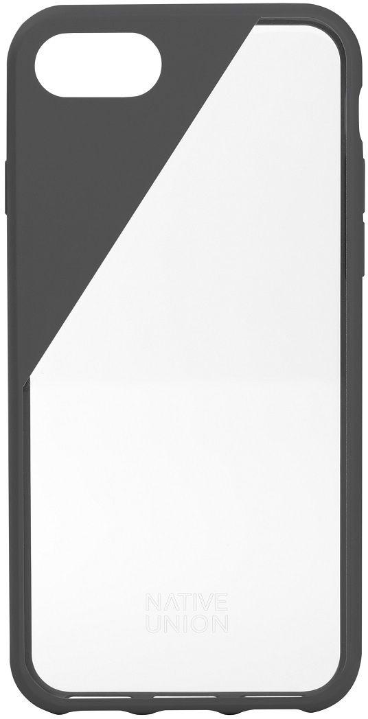 Native Union Clic Crystal чехол для iPhone 7/8, GreyCLICCRL-SMO-7Чехол Native Union Clic Crystal идеально подстраивается под iPhone 7, практически не увеличивая его в размерах. Выполнен из ударопоглощающих полимеров, защищающих от падений. Выступающая рамка по бокам экрана обеспечит его целостность. Имеется свободный доступ ко всем разъемам и кнопкам устройства. Чехол Native Union Clic Crystal сохраняет оригинальный стиль iPhone. Основным элементом задней панели выступает прочный и прозрачный поликарбонат, оставляющий лидерство дизайна за металлическим корпусом iPhone. Тем не менее, стиль Native Union всё равно легко узнается благодаря отличительному, резкому скосу эластичного бампера.