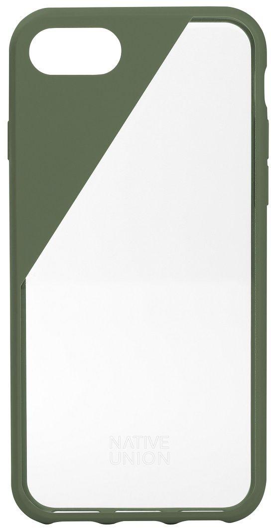 Native Union Clic Crystal чехол для iPhone 7/8, OliveCLICCRL-OLI-7Чехол Native Union Clic Crystal идеально подстраивается под iPhone 7, практически не увеличивая его в размерах. Выполнен из ударопоглощающих полимеров, защищающих от падений. Выступающая рамка по бокам экрана обеспечит его целостность. Имеется свободный доступ ко всем разъемам и кнопкам устройства. Чехол Native Union Clic Crystal сохраняет оригинальный стиль iPhone. Основным элементом задней панели выступает прочный и прозрачный поликарбонат, оставляющий лидерство дизайна за металлическим корпусом iPhone. Тем не менее, стиль Native Union всё равно легко узнается благодаря отличительному, резкому скосу эластичного бампера.