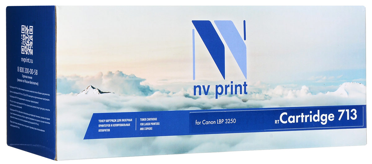 NV Print Cartridge 713, Black тонер-картридж для Canon i-Sensys LBP3250 картридж для принтера nv print для hp cf403x magenta