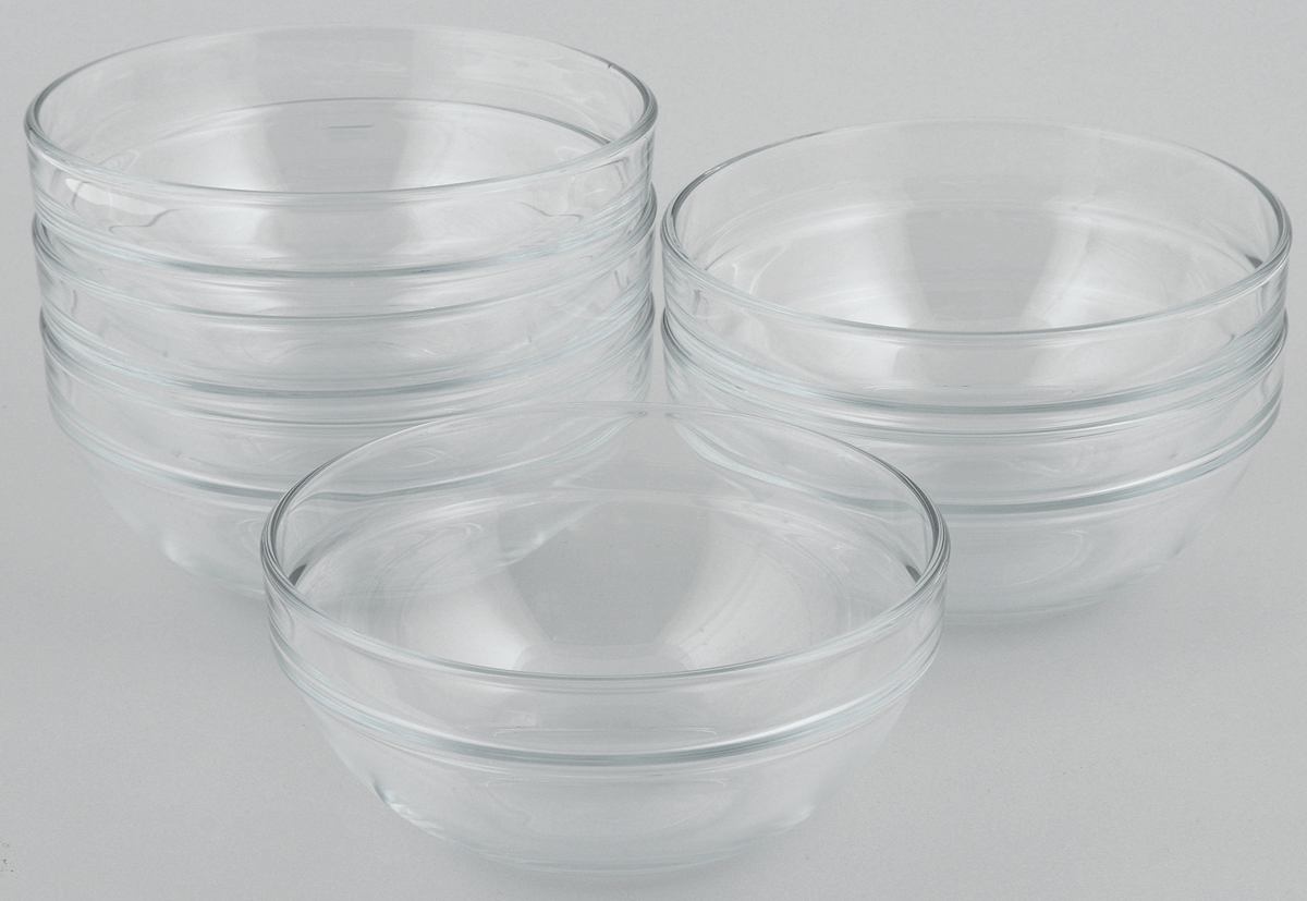 Набор салатников Pasabahce Chefs, диаметр 14 см, 6 шт53553BTНабор Pasabahce Chefs состоит из 6 салатников, выполненных из высококачественного натрий-кальций-силикатного стекла. Такие салатники прекрасно подойдут для сервировки стола и станут достойным оформлением для ваших любимых блюд. Высокое качество и функциональность набора позволят ему стать достойным дополнением к вашему кухонному инвентарю.Диаметр салатника: 14 см.Объем салатника: 500 мл.