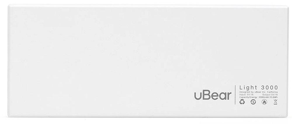 uBear Light 3000, Whiteвнешний аккумулятор