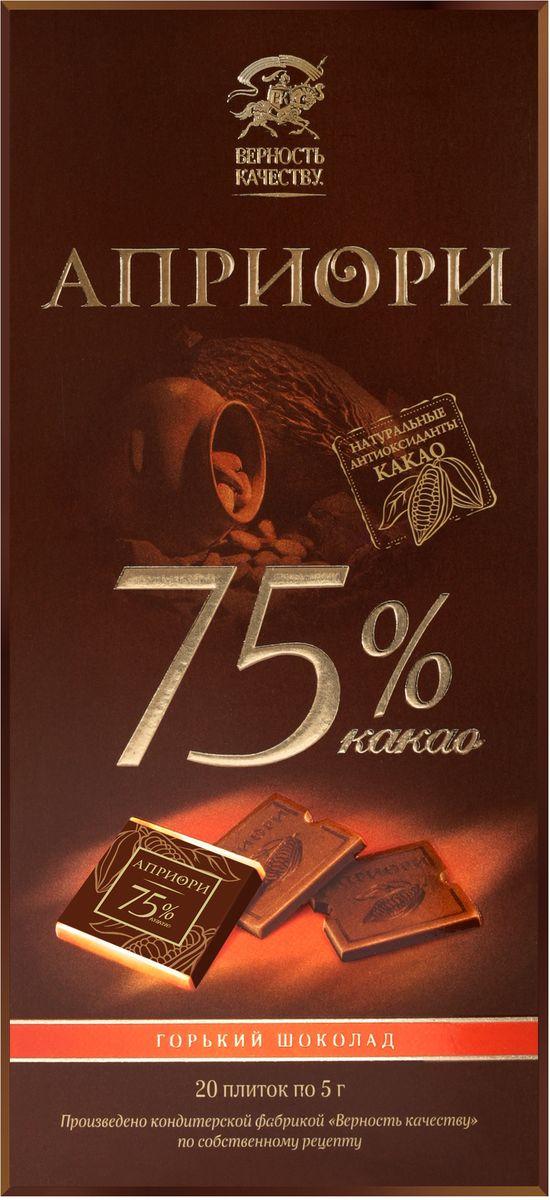 Априори горький шоколад 75%, 100 г априори горький шоколад цукаты лимона и имбиря 72 г